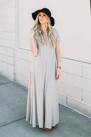 Aniston Maxi | Heather Gray | Bump Friendly