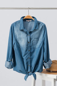 Denim Dream Tie Top | 2 Colors