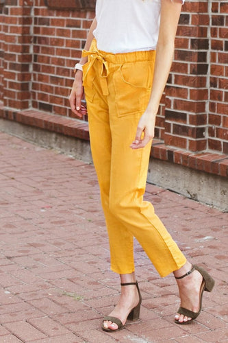 Lauren Pocket + Ruffle Pant | Sun Kissed
