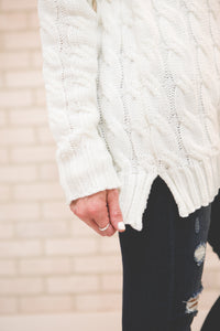 Cable Knit Sweater | Ivory