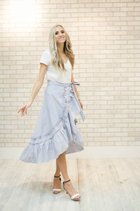 Londyn Ruffle Skirt | Blue