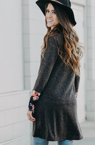 Cowl Neck Tunic | Slate