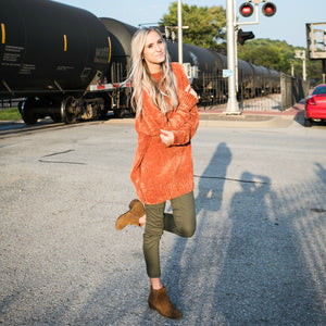 Cozy Oversized Sweater | Olive