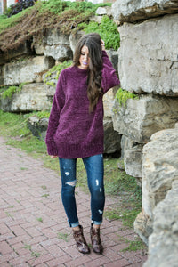Cozy Oversized Sweater | Ash Gray
