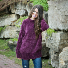 Cozy Oversized Sweater | Plum