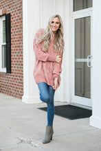 Cozy Oversized Sweater | Purple