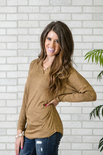 Cozy Heathered Tunic | Mustard