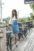 Ashley Midi Pencil Skirt | Dark Purple