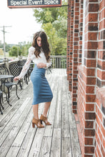 Ashley Midi Pencil Skirt | Pale Olive