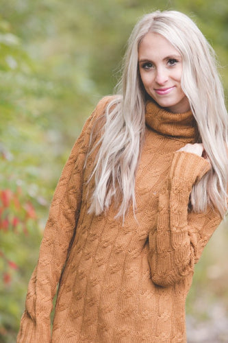 Cable Knit Sweater | Sepia