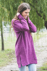 Perfect Pocket Sweater | Plum