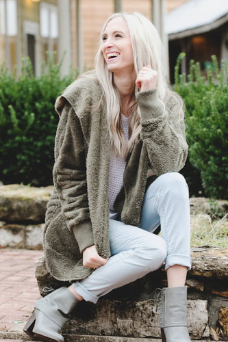 Cozy Fleece Jacket | Olive