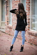Lettuce Trim Layering Tunic | Black