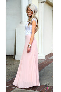Smitten Blush Pleated Maxi