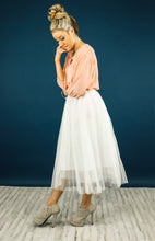 Ivory Waterfall Tulle Skirt