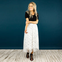 Polished Dot Tulle Skirt
