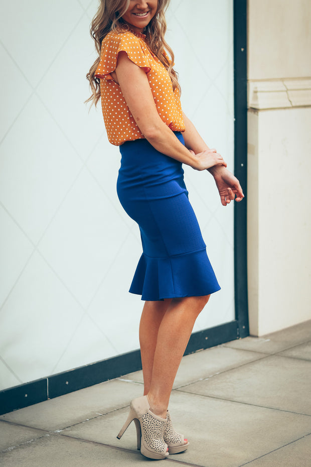 Ariel Peplum Skirt | More Colors