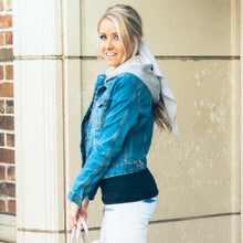 Aspen Denim Hooded Jacket | Blue