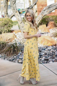 Wildflower Wrap Dress | Mustard