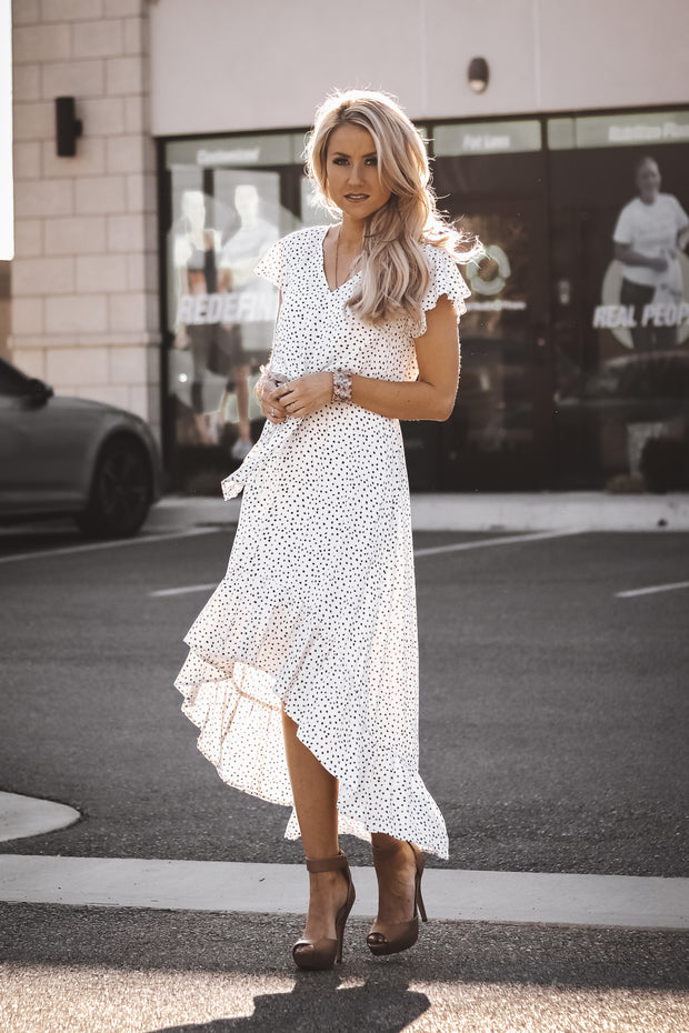 Monaco Ruffle Dress | White