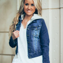 Aspen Denim Hooded Jacket | Dark Blue