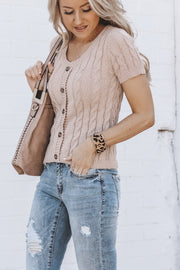 Elora Knit Top | Taupe