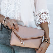 Londyn Envelope Clutch | Rose Gold