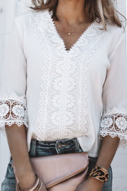 Belle in Lace Blouse | Ivory