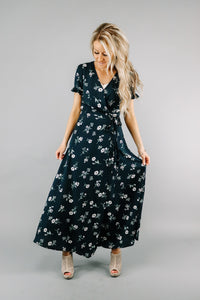 Wildflower Wrap Dress | Navy