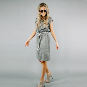 Pocket Full of Stripes Dress | Gray