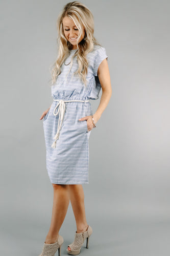 Pocket Full of Stripes Dress | Blue