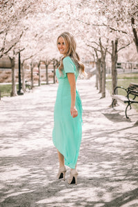 Sunday Stroll Button Dress | Mint