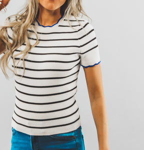 Scalloped Stripe Top | More Colors