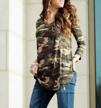 Boyfriend Camo Top | Dark Camo