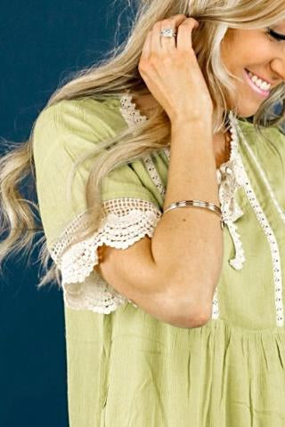 French Lace Blouse | Sage