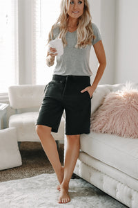 Knee Length Lounge Shorts | 4 Colors