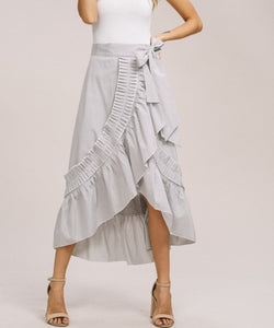 Londyn Ruffle Skirt | Gray