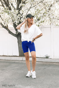 Mid Waist Biker Shorts | 16 Colors