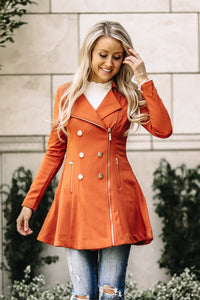 Button + Flair Peacoat | Rust