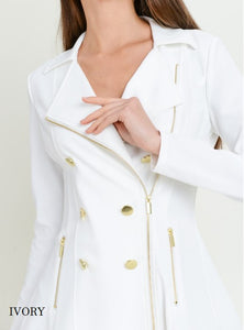 Button + Flair Peacoat | Ivory