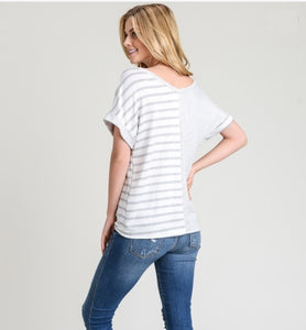 Perfect Striped Tie Tee | Gray
