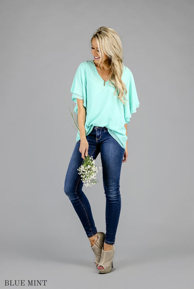 Romance and Ruffles Chiffon Blouse | 22 Colors