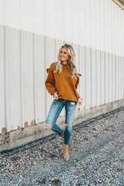 Ruffle Boyfriend Sweatshirt | 5 Colors