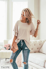 Sienna Double Ruffle Blouse | 26 Colors