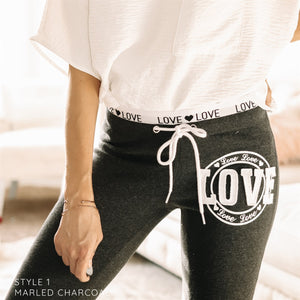 Love Circle and Waistband Joggers | 4 Colors
