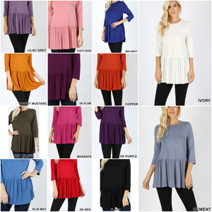 Elle Peplum | More Colors!