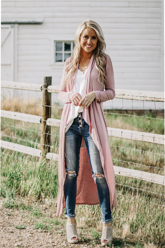 Maxi Cardigan | Dusty Mauve