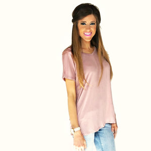 Carolina Crossback Tee | Baked Rose