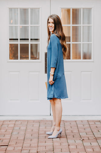 Criss Cross Dress | Blue