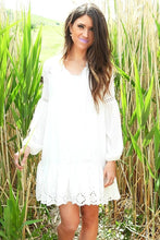 Dots and Eyelet Tunic | White